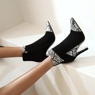 Arden Furtado 2020 autumn Fashion Women's Shoes Elegant Mixed Colors Women's Boots  Embroidery zipper Small size 31Big size 48