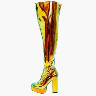 Arden Furtado 2020 Fashion Women's Shoes Elegant Women's zipper Waterproof sexy new chunky heels Knee High Boots big size 44
