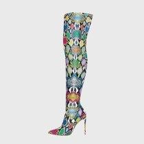 Arden Furtado 2020 Fashion Women's Shoes Elegant Women's snakeskin Boots stiletto heels over the Knee High Boots big size 45