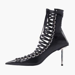 Arden Furtado 2020 Fashion Women's Shoes new  Elegant Women's stilettos heels sexy  Cross Lacing ankle Boots  Lace boots 45