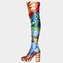 Arden Furtado 2020 autumn Fashion Women's Shoes sexy platform Zipper new Over The Knee High Boots Elegant Chunky Heels 46