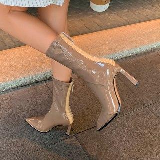 Arden Furtado  Fashion spring autumn Women's Shoes Elegant Women's Boots stilettos heels genuine leather Aankle boots 40
