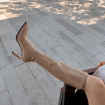 Arden Furtado Fashion spring autumn Women's Shoes Elegant Women's Boots stilettos heels genuine leather knee high boots