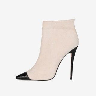 Arden Furtado Fashion Women's Shoes Winter Pointed Toe sexy new Zipper Stilettos Heels Matur ankle boots big size 45 46 47