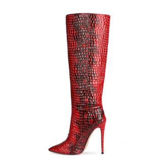 Arden Furtado 2021 Fashion spring autumn Serpentine Women's Shoes Elegant Women's Boots stilettos heels  knee high boots 46 47