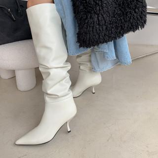 Arden Furtado 2021 Fashion spring autumn Women's Shoes Genuine leather Elegant Women's Boots stilettos heels  knee high boots 40
