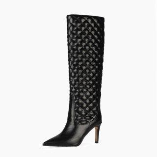 Arden Furtado 2021 Fashion spring autumn  Women's Shoes Elegant Women's Boots stilettos heels  knee high boots 44 45