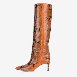 Arden Furtado 2021 Fashion spring autumn  Women's Shoes Elegant Serpentine  Women's Boots stilettos heels  knee high boots 44 45