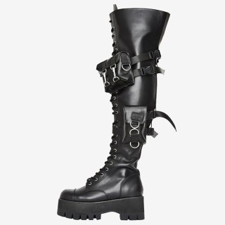 Arden Furtado 2021 Fashion spring autumn red  Women's Shoes Waterproof Elegant Over The Knee High Boots  Women's Boots 42 43