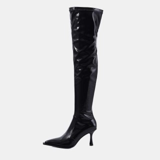 Arden Furtado 2021 winter fashion boots Elegant Pointed Toe Stilettos Heels Zipper  Sexy Elegant Ladies Boots Big size  48