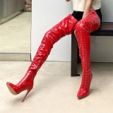 Arden Furtado 2021 Winter Fashion Elegant Pointed Toe Stilettos Extreme Heels Zipper Sexy Ladies White Thigh High Boots 41 42 43