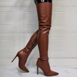 Arden Furtado Winter  fashion pointed toe Side zipperr Women's boots sexy Stilettos heels over the knee boots  46 47 new