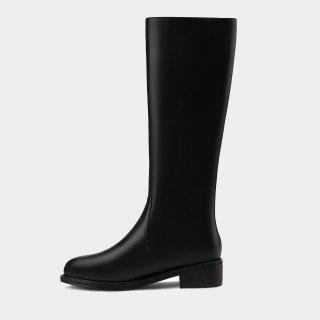 Arden Furtado 2021 Fashion Winter Women's Shoes Zipper Round Toe Women's Boots Knee High Boots Genuine Leather Big size 44 45