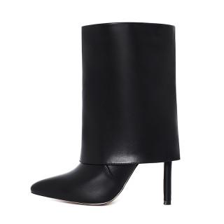 Arden Furtado 2021Fashion Winter Women's Shoes Elegant Women's Boots Stilettos Heels Slip-on genuine leather Short Boots 41 42