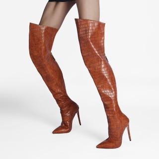Arden Furtado Fashion Women's Shoes Winter Pointed Toe Stilettos Heels Zipper Elegant Ladies Boots Concise Mature Women's Boots