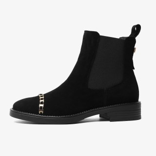 Arden Furtado 2021 Fashion Winter Women's Shoes Round Toe Women's Boots chelsea Boots Genuine Leather ankle boots Big size 44