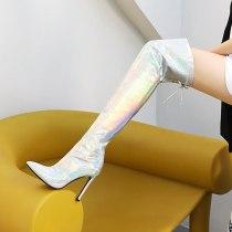 Arden Furtado 2021 Fashion Winter Pointed Toe Women's Stilettos Heels sexy Zipper Stilettos Heels Over The Knee High Boots 47 48