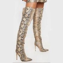Arden Furtado 2020 autumn Fashion Women's Shoes Elegant Women's zipper sexy Stilettos Heels over the Knee Boots big size 42 43