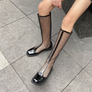 Arden Furtado 2021 Fashion summer Concise  Heels  Pure Color Round Toe Wire side Women's Back zipper Knee High Boots big size 40