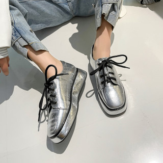 Arden Furtado 2021 Spring And autumn Fashion Women's Shoes Gun Color Round Toe Cross Lacing Genuine Leather Leisure Shoes New