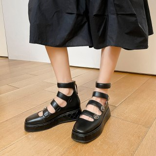 Arden Furtado 2021 summer Fashion Women's Shoes Pure Color White Round Toe platform Sexy  Sandals  Flats Back zipper Cool boots