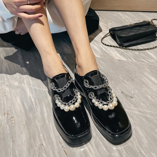 Arden Furtado Crystal Rhinest Spring And autumn Fashion Women's Shoes  Round Toe Slip on Genuine Leather Flat Platform Shoes New