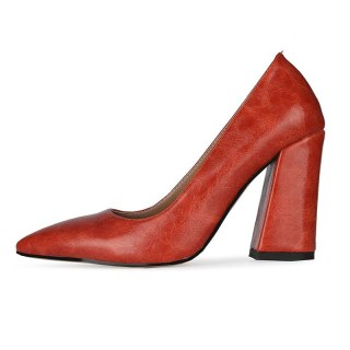 Arden Furtado 2021New Summer Fashion  Women's Shoes Red Elegant Pointed Toe Sexy Block heels Party shoes Pumps 47