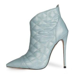 Arden Furtado 2021 Fashion Winter Pointed Toe Women's Stilettos Heels Sexy Zipper Stilettos Heels Orange Short Boots Big size 47