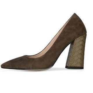 Arden Furtado 2021New Summer Fashion  Women's Shoes  Yellow  Elegant Pointed Toe Sexy Block heels Pumps 47