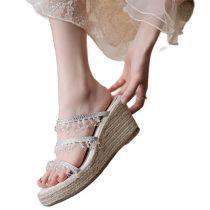Arden Furtado Summer Fashion Women's Shoes Wedges platform ladies Bohemia crystal rinestone Slippers