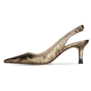 Arden Furtado 2021 summer Fashion Women's Shoes poots Gold  Buckle Sandals Stilettos Heels Pointed Toe large size 45