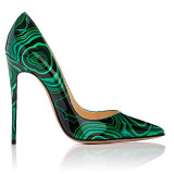 Arden Furtado 2021 New Fashion Pointed Toe Stilettos heels Women's shoes Sexy Elegant Green Pumps Big Size 47