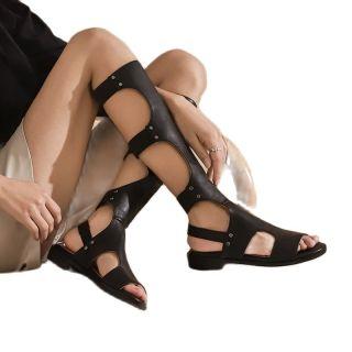 Arden Furtado 2021 summer boots Fashion Women's Shoes Pure Color Beige strap casual Sandals Flat Gladiator sandals Big size