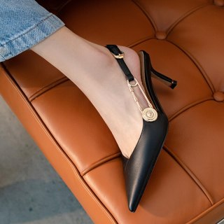 Arden Furtado 2021 summer Fashion Sexy Women's Shoes Mature Office lady nude Sandals Stilettos Heels Pointed Toe sandals 40 41