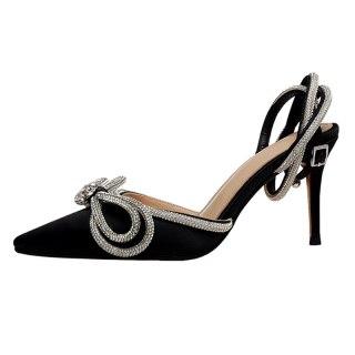 Arden Furtado 2021 summer Fashion Sexy Women's Shoes Mature Bowknot Butterfly  Sandals Stilettos Heels Pointed Toe sandals 40 41