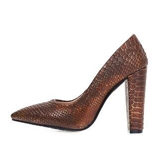 Arden Furtado 2021 Spring autumn Fashion Pointed Toe Chunky Heels Women's Shoes Sexy Elegant White Stripe Pumps Big Size 42 43