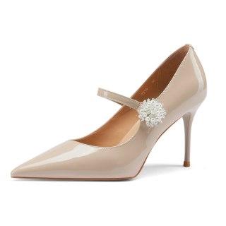 Arden Furtado 2021 summer Fashion Women's Shoes Buckle strap ladies crystal rhinestone Stilettos Heels Pointed Toe pumps heels