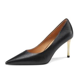 Arden Furtado Summer Fashion Women's Shoes White pumps Pointed Toe Stilettos Heels Sexy Elegant Slip-on Genuine leather