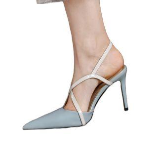 Arden Furtado 2021 Summer high heels Sling back Sandals wowen's shoes Stilettos heels Party shoes Elegant heels pointed toe shoes 40