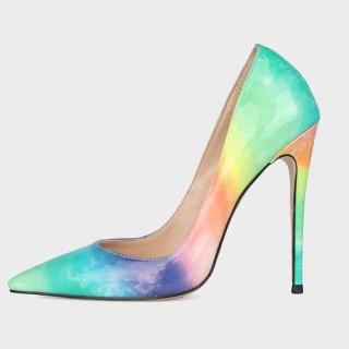 Arden Furtado Fashion Women's Shoes Pointed Toe Stilettos Heels Sexy Elegant Pumps High Heels Office Lady rainbow  shoes 41 42