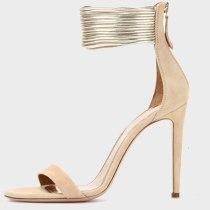 Arden Furtado Summer Fashion Women's Shoes Zipper Stilettos Heels  Sexy Elegant pure color Sandals Back zipper Party Shoes