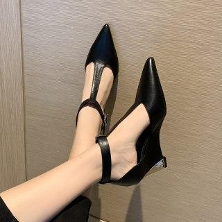 Arden Furtado 2021 Summer Fashion Women's Shoes Sexy Elegant  Suede Buckle Sandals Buckle Strap Wedges Platform Size 33 40