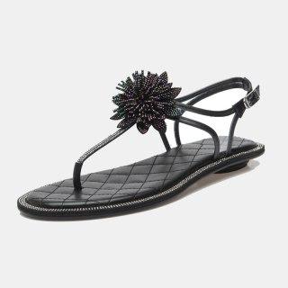 Arden Furtado 2021 Summer Fashion Women's Shoes Sexy Elegant Concise Flats Buckle Sandals Strap Size 33 40