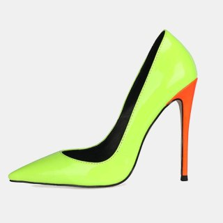 Arden Furtado Fashion Women's Shoes Pointed Toe Stilettos Heels Sexy Orange Elegant Pumps High Heels Office Lady shoes 46 47