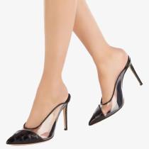 Arden Furtado Fashion Women's Shoes Pointed Toe Stilettos Heels Sexy Black  White Elegant slippers High Heels Lady shoes 46 47