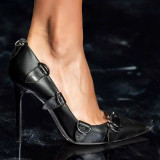 Arden Furtado Fashion Women's Shoes Pointed Toe Stilettos Heels Sexy Black Personality Lady Pumps Big size 46 47 New