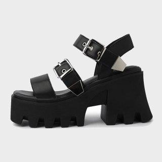 Arden Furtado Summer Fashion Women's Shoes Classics Buckle Sexy Elegant Platform Chunky Heels Sandals