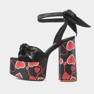 Arden Furtado Summer Fashion Women's Shoes Classics Chunky Heels Sexy Elegant Platform Suede Sandals New 42 43