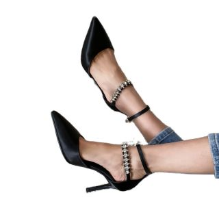 Arden Furtado Summer Fashion Women's Shoes Sexy  Elegant Stilettos Heels Crystal Rhinestone Classics  Sandals 33-40