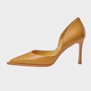 Arden Furtado  Fashion Women's Shoes Yellow Pointed Toe Stilettos Heels Sexy Elegant  Pumps High Heels Office Lady shoes 33 40
